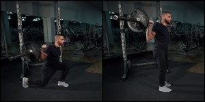 BB back lunges